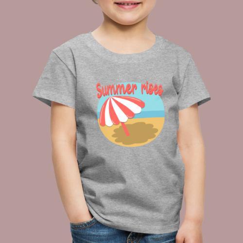 Summer rises parasol sur une plage / mer ciel été - T-shirt Premium Enfant