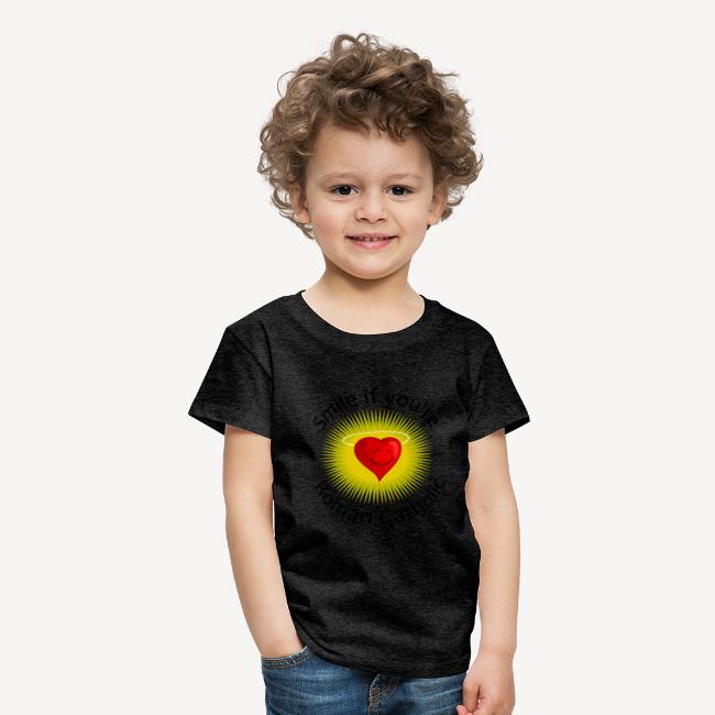 KID'S T-SHIRT - SMILE IF YOU RE ROMAN CATHOLIC