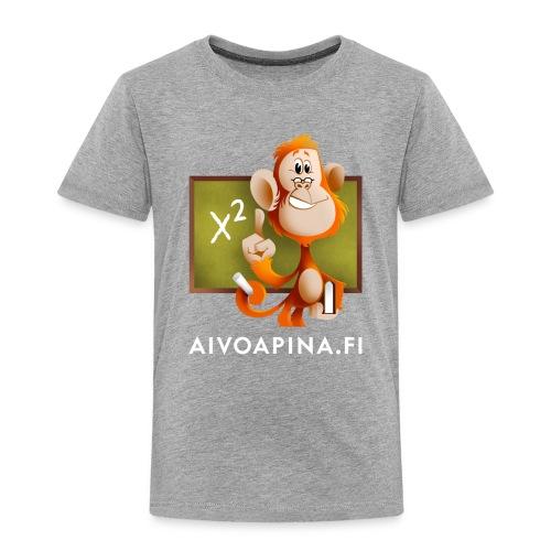 Aivoapina valkoinen teksti - Lasten premium t-paita
