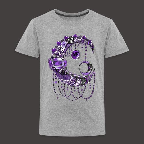 Lune dentelle Violette - T-shirt Premium Enfant