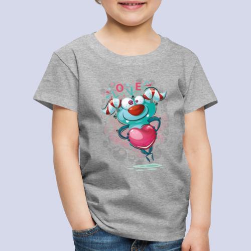 Monster cartoon love design - Kids' Premium T-Shirt