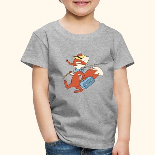 Herr Fuchs mit Angel - Kinder Premium T-Shirt