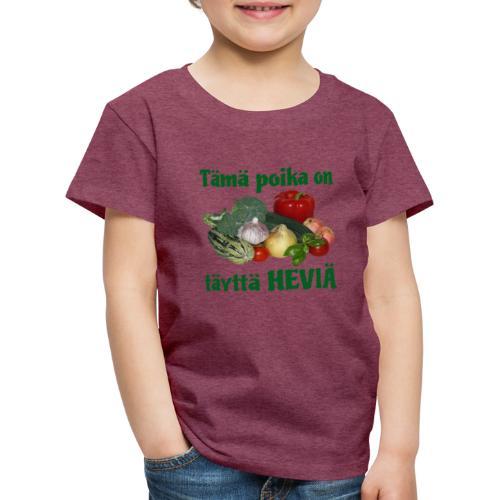 Poika täyttä heviä - Lasten premium t-paita