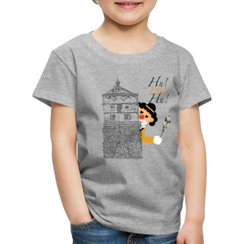 Hu! Hu! Hu! Schwarzgelber Clown am Schwarzen Tor - Kinder Premium T-Shirt