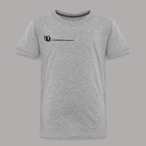 Zirkelbanner,schwarz(vorne)Zirkel,schwarz (hinten) - Kinder Premium T-Shirt
