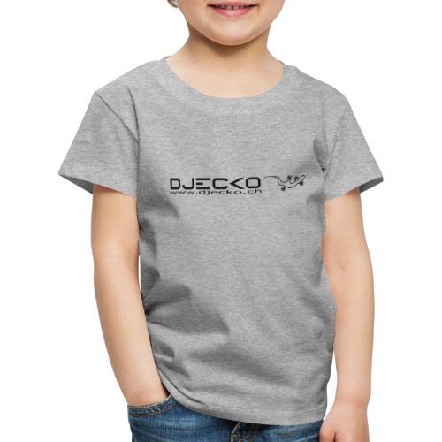 Logo rect noir txt et gecko - T-shirt Premium Enfant