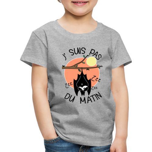 Chauve-souris, J' Suis pas du Matin - T-shirt Premium Enfant