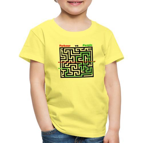 Parkour Maze parkour vs people - Børne premium T-shirt