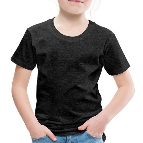 parkour dictionay - Børne premium T-shirt