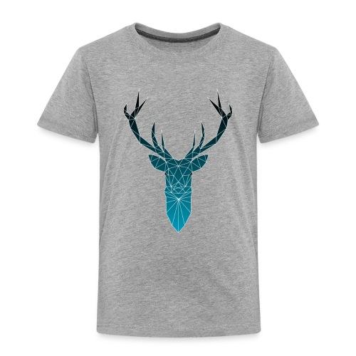 Hirsch blau im Triangel-Design - Kinder Premium T-Shirt
