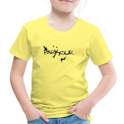 Parkour Sort - Børne premium T-shirt