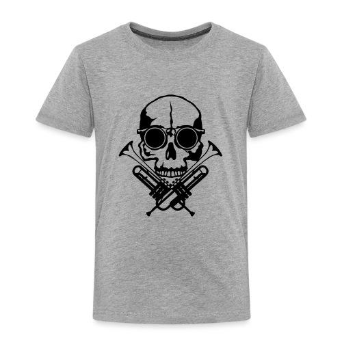 tete de mort skull crane trompette musiq - T-shirt Premium Enfant