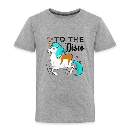Funny Sloth Riding Unicorn - Kinder Premium T-Shirt