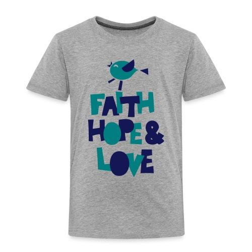 faith hope love frühling - Kinder Premium T-Shirt