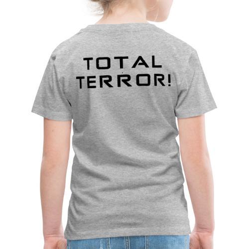 Black Negant logo + TOTAL TERROR! - Børne premium T-shirt