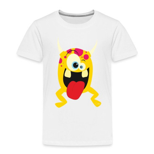 Monster Yellow - Kinderen Premium T-shirt