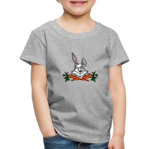Lapin avec carottes, végétarien, végan - T-shirt Premium Enfant