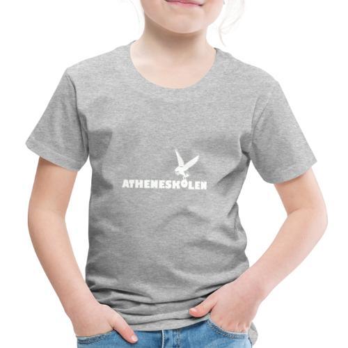 Hvidt logo - Børne premium T-shirt