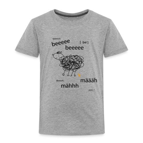 Tierlaut zweisprachig - Kinder Premium T-Shirt