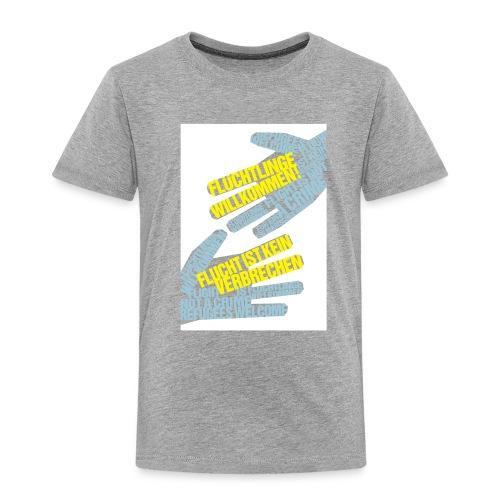 Flüchtlinge Willkommen w - Kinder Premium T-Shirt