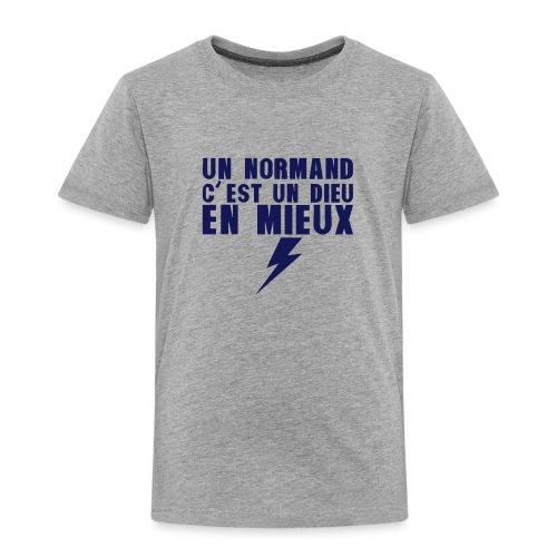 un normand dieu en mieux foudre - T-shirt Premium Enfant