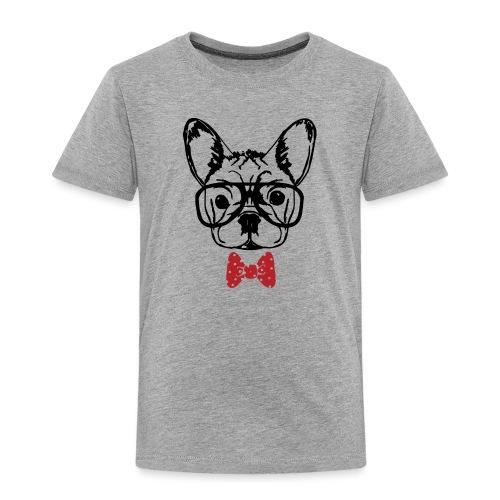 Nerdy Frenchie - Kinder Premium T-Shirt
