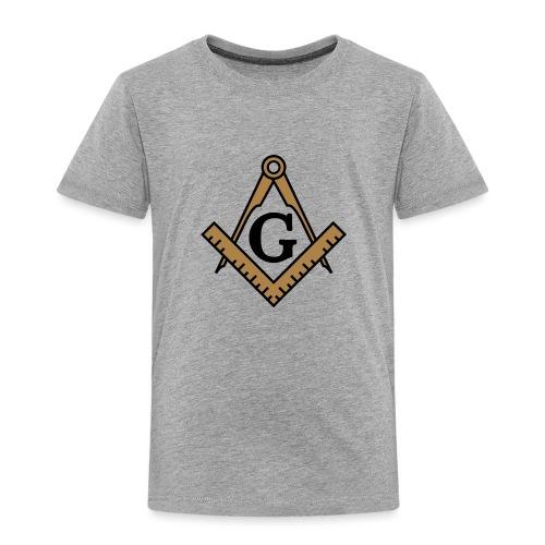 Freimaurer Symbol, Wappen Zirkel & Winkelmaß - Kinder Premium T-Shirt