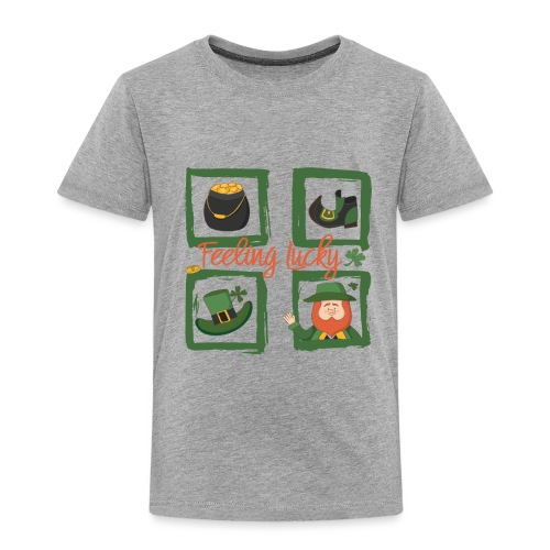 Be happy - feeling lucky St. Patricks day - Kids' Premium T-Shirt