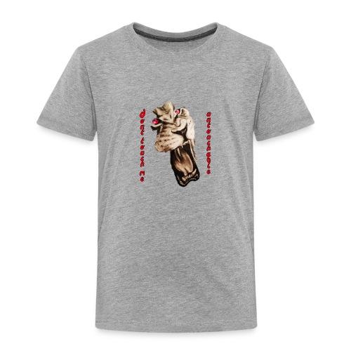 Lion4 Untouchable People! Dont touch me! - Kinder Premium T-Shirt