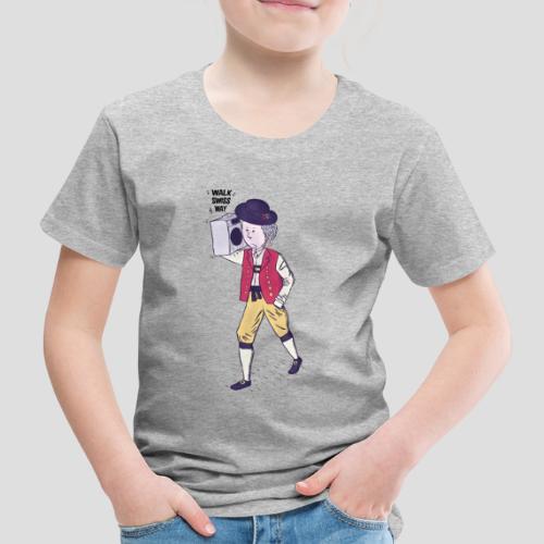 Walk Swiss Way Blue - Kinder Premium T-Shirt