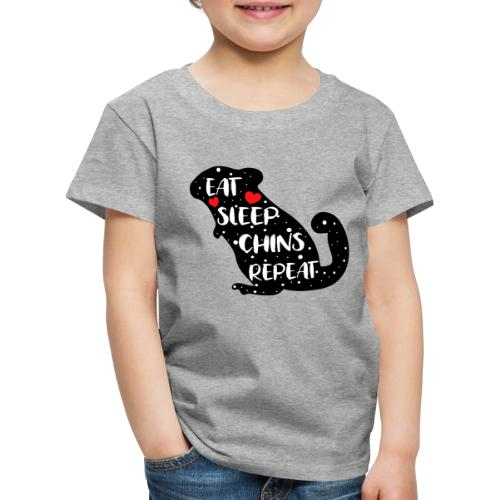 Eat Sleep Chins Repeat | Chinchillahalter Geschenk - Kinder Premium T-Shirt