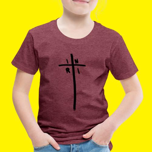 Cross - INRI (Jesus of Nazareth King of Jews) - Kids' Premium T-Shirt