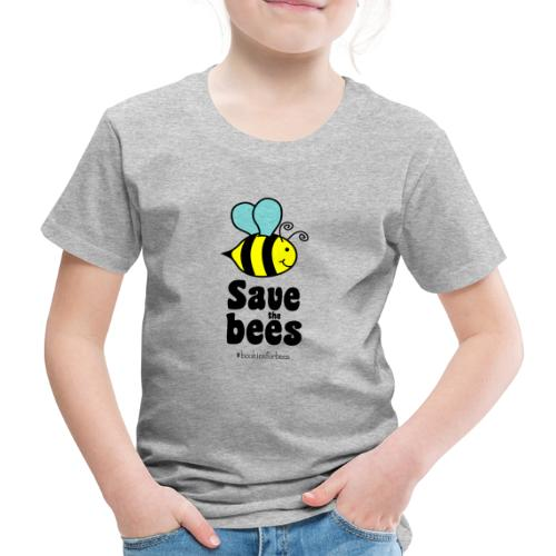 Bees9-1 save the bees   Bienen Blumen Schützen - Kids' Premium T-Shirt