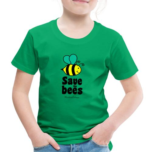 Bees9-1 save the bees | Bienen Blumen Schützen - Kids' Premium T-Shirt