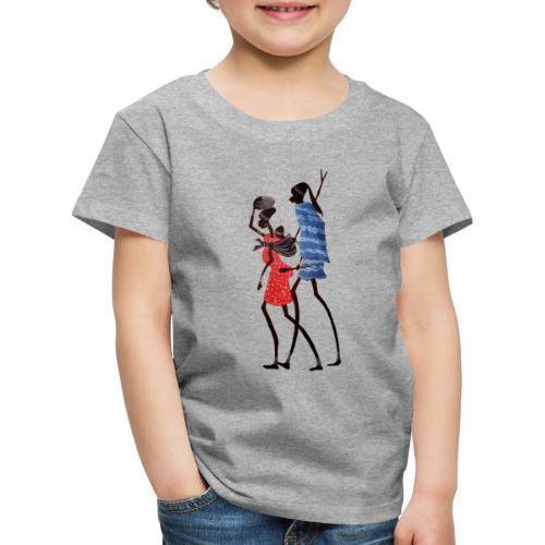 2 People Walking Frist - Stor - Børne premium T-shirt