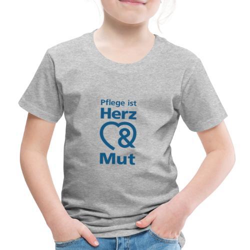 Pflege ist Herz & Mut (blau) - Kinder Premium T-Shirt