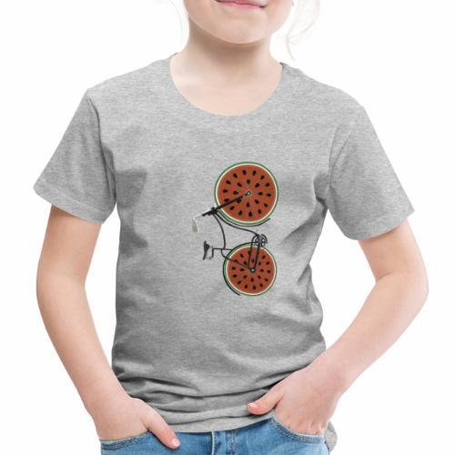 Retro Fahrrad mit Melonen Rädern - Kinder Premium T-Shirt