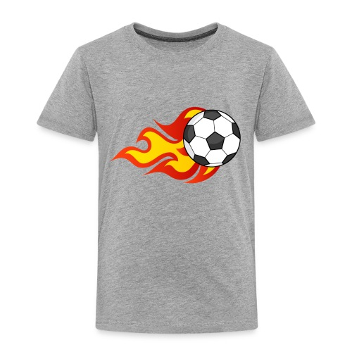 Flaming Football - Kids' Premium T-Shirt