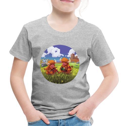 Highland cows from Scotland - T-shirt Premium Enfant