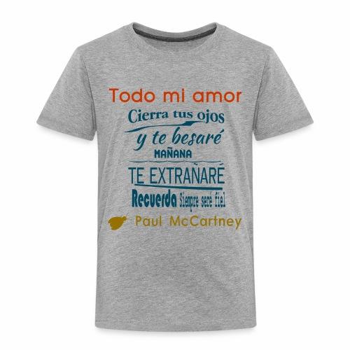 All my loving español 1 - Camiseta premium niño