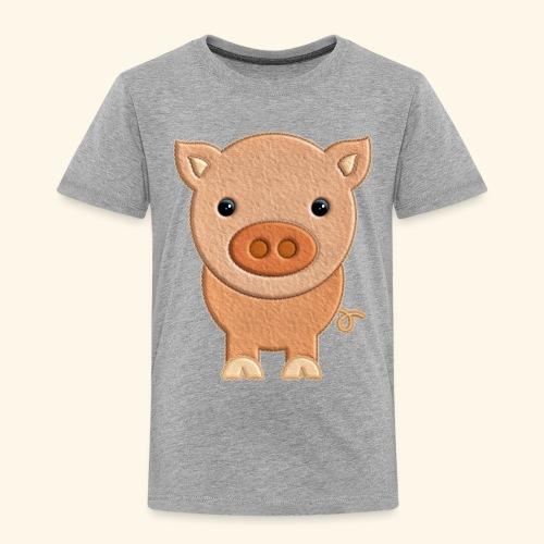 Cerdito de peluche Pig Cerdo - Camiseta premium niño