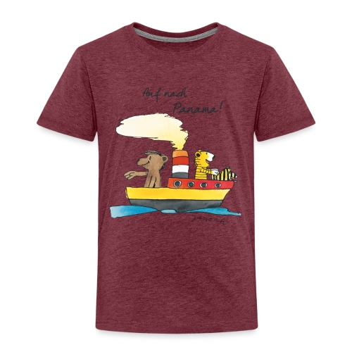 Janosch Tiger und Bären schippern nach Panama - Kinder Premium T-Shirt