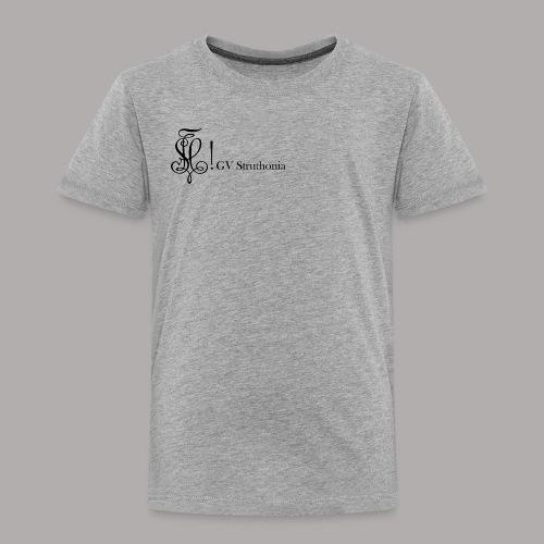 Zirkel mit Name, schwarz (vorne) - Kinder Premium T-Shirt