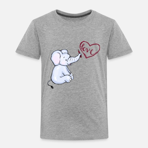Baby Elefant love - Kinder Premium T-Shirt