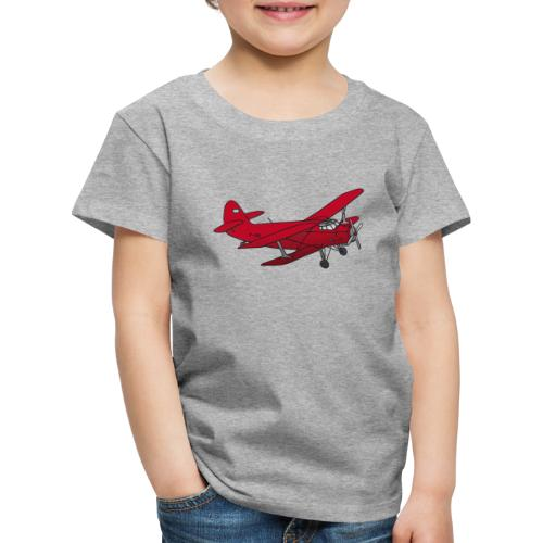 Doppeldecker Flieger rot - Kinder Premium T-Shirt