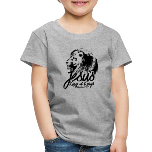 LION - JESUS KING OF KINGS // Black - Kids' Premium T-Shirt