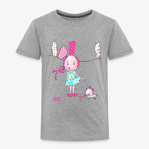 fille et chat - T-shirt Premium Enfant