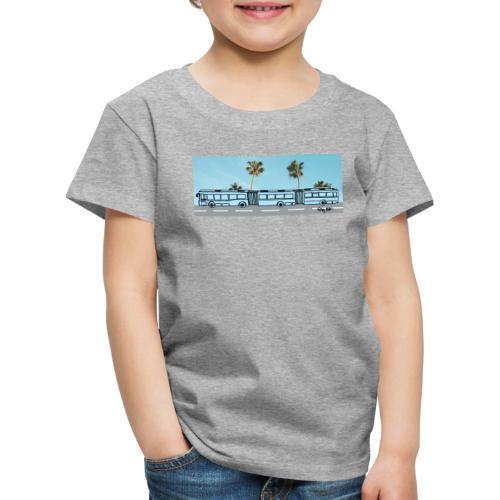 Doppelgelenkbus color palmen - Kinder Premium T-Shirt
