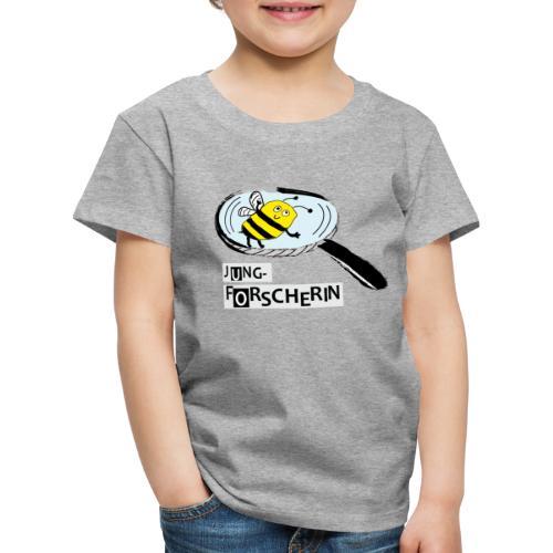 Jungforscherin mit Biene - Kinder Premium T-Shirt
