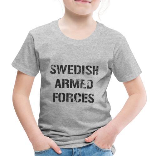SWEDISH ARMED FORCES - Rugged - Premium-T-shirt barn